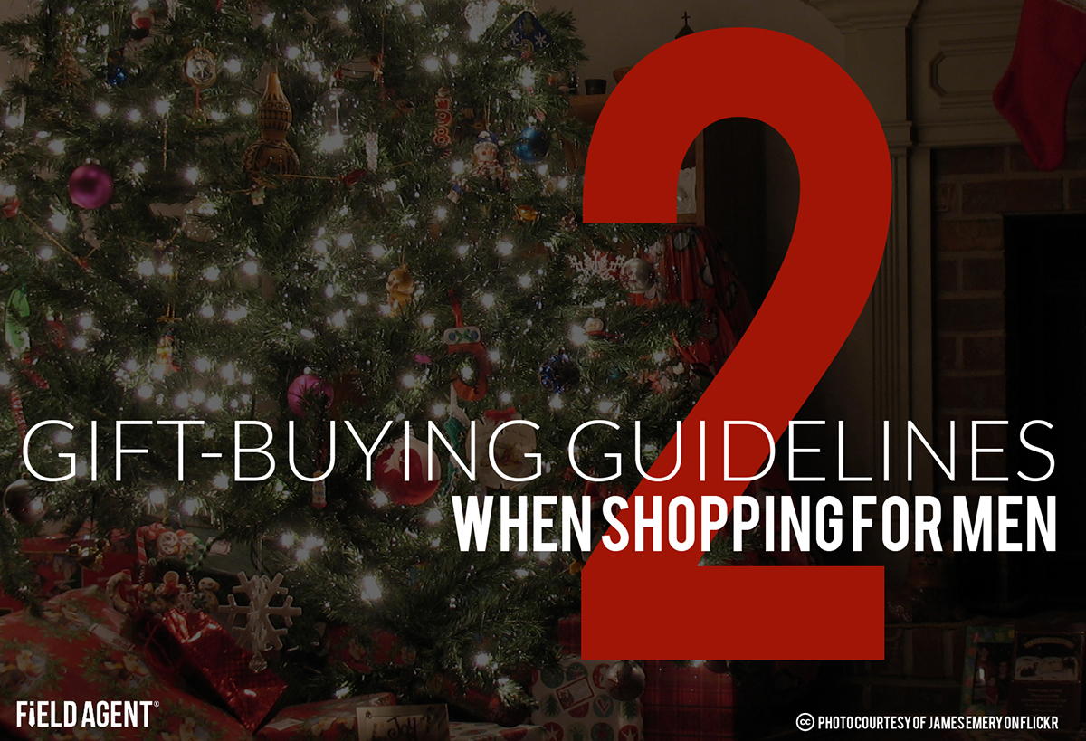2 Gift-Buying Guidelines When Shopping For Men