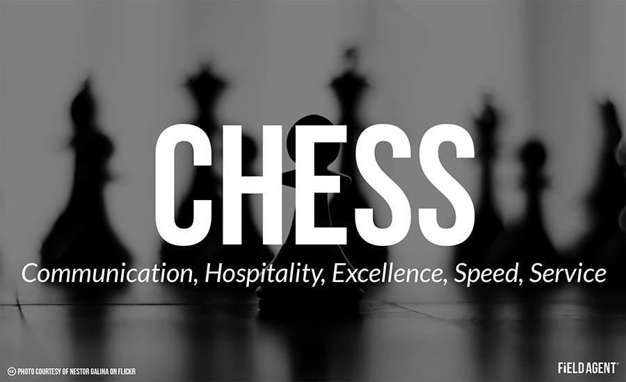 Chess: Communication, Hospitality, Excellence, Speed, Service