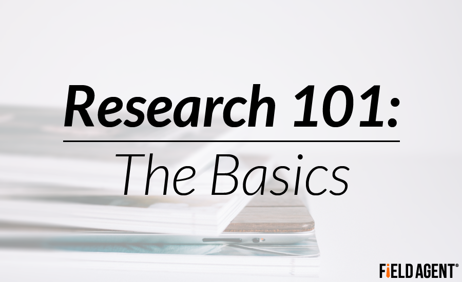 Research 101: The Basics