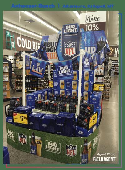 Anheuser-Busch 2021 Super Bowl Display