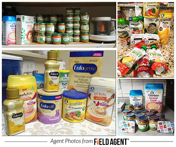 Agent photos of baby food