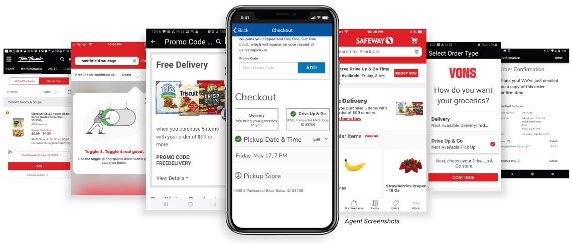 Agent Screenshots App Screens