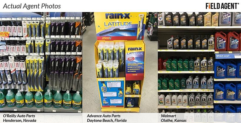 Actual Agent Photos of Auto Supply Retailers Displays