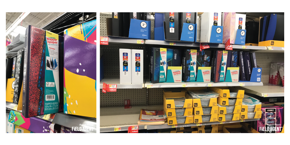 Back-to-School Trapper Keeper Displays
