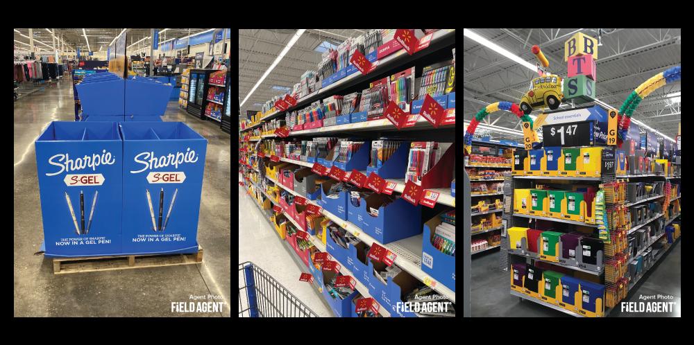 Back-to-School Walmart Displays