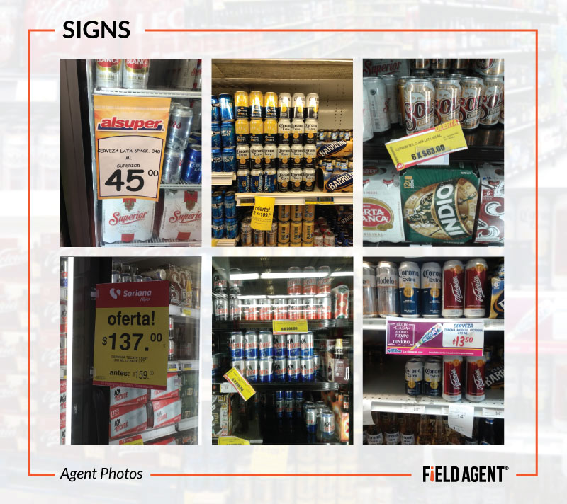 Beer Display Audits - Signs