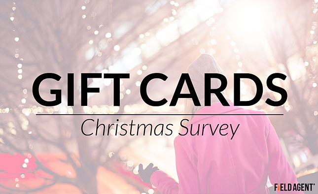 Gift cards - Christmas Survey
