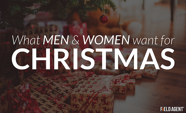What men and women really want for Christmas this year