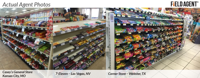 Actual Agent Photos of the Candy Aisle at Convenience Stores