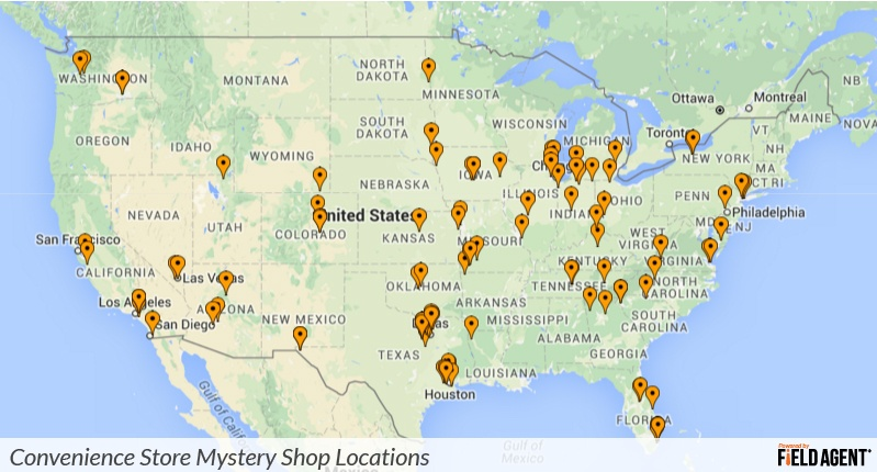 Convenience Store Mystery Shop Locations powered by Field Agent