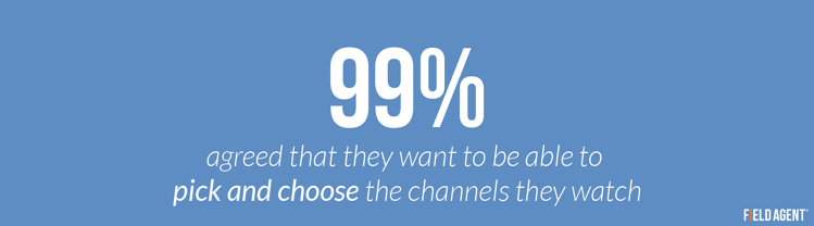 99% agree that they want to be able to pick and choose the channels they watch