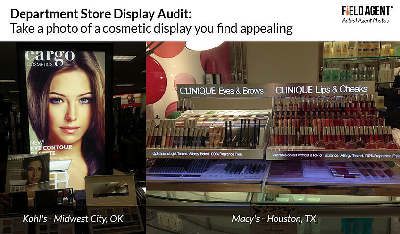 Department Store Display Audit: Take a photo of a cosmetic display you find appealing