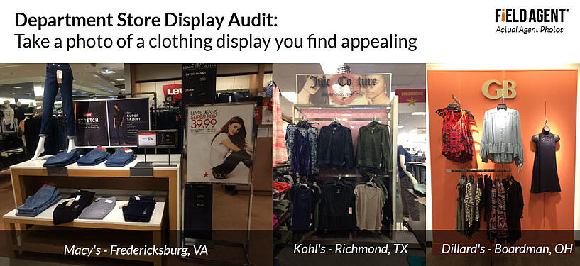 Department Store Display Audit: Take a photo of a clothing display you find appealing
