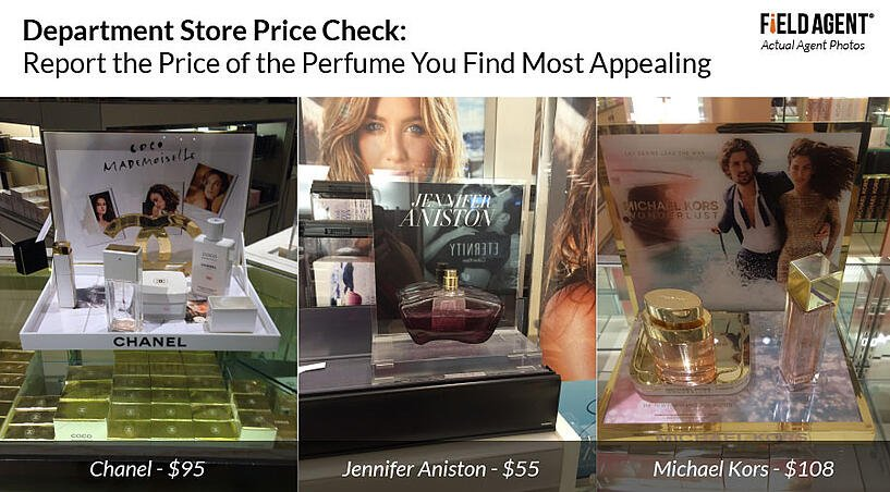 Department Store Price Check: Report the Price of the Perfume You Find Most Appealing