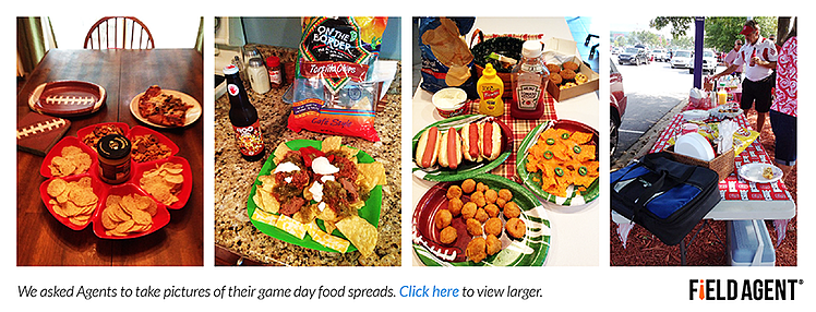 We also asked agents to take pictures of their game day food spreads: