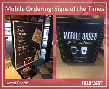 Mobile Ordering: Signs of the Times