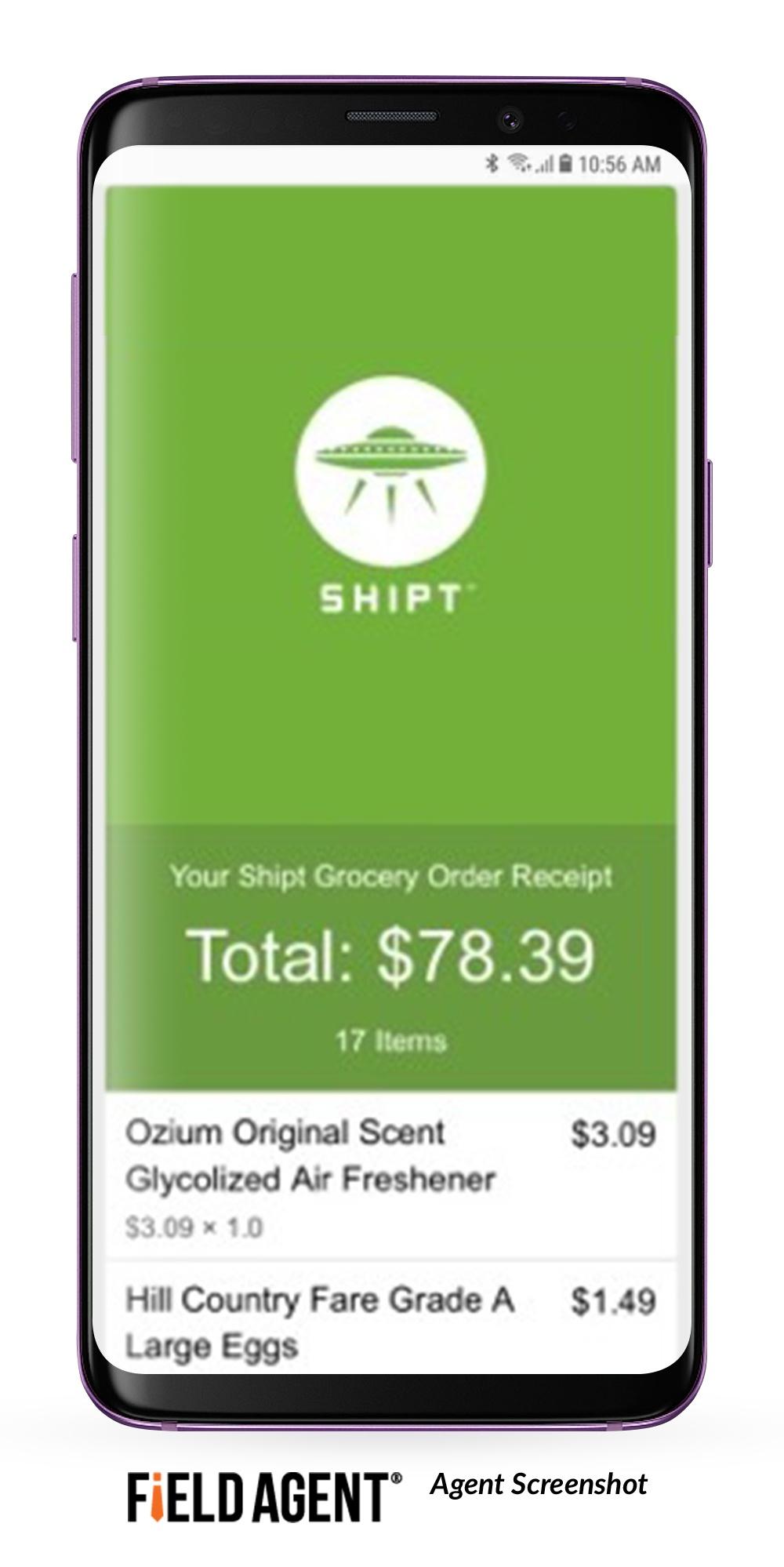 Shipt Order Confirmation