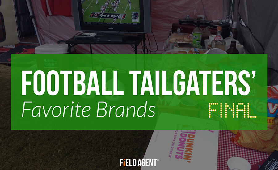 Which food and beverage brands won football tailgaters in 2015?