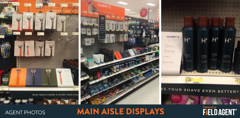 Harry's Main Aisle Display Agent Photos