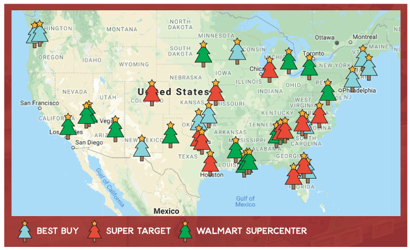 Holiday Price Check Retail Map
