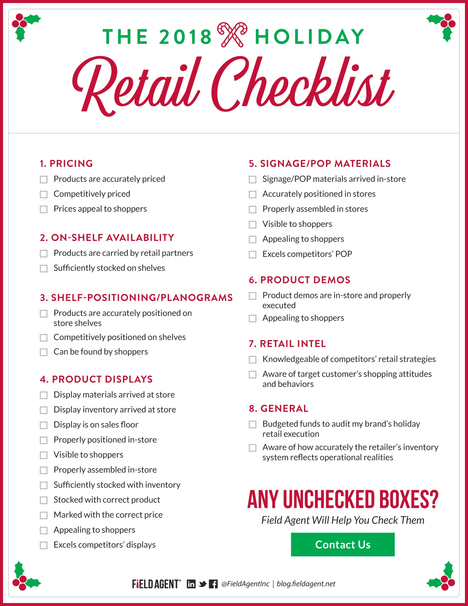 Holiday Retail Checklist 2018