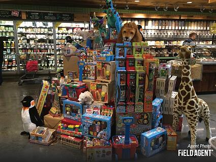 Whole Foods Toys Display