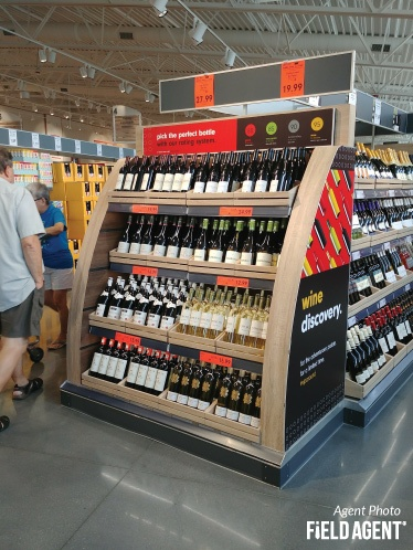 Lidl Wine Display Agent Photo