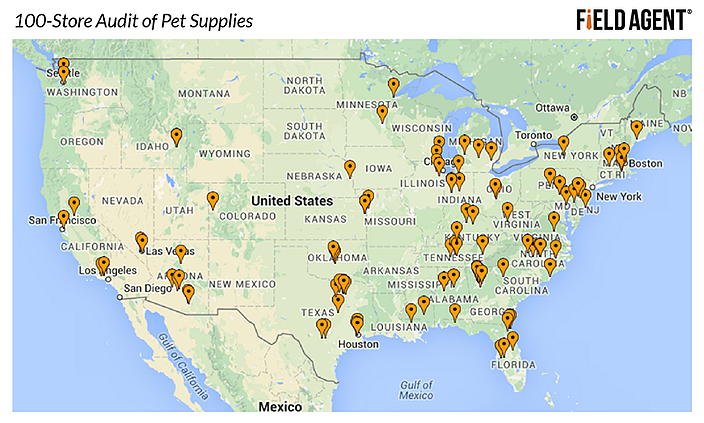100-Store Audit of Pet Supplies