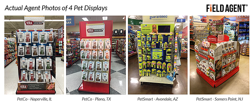 Actual Agent Photos of 4 Pet Displays - Display Audit