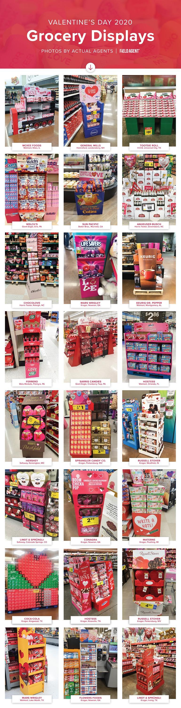 Valentines Grocery Displays 2020 - Seasonal Display Gallery