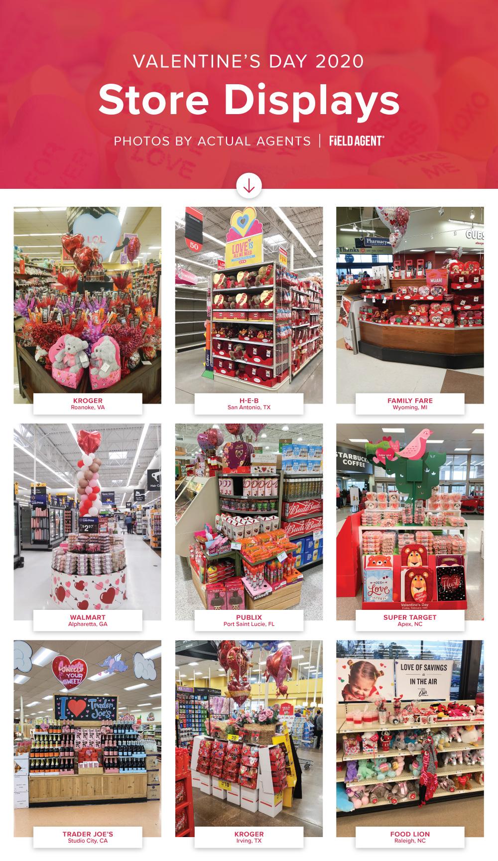 Valentines Store Displays 2020 - Seasonal Display Gallery