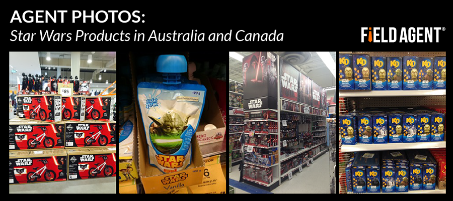 Star Wars Products in Australia and Canada