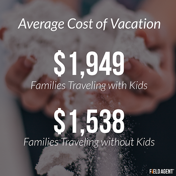 Average Cost of Vacation: $1,949 for Families Traveling with Kids $1,538 for Families Traveling without Kids
