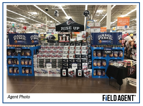 Super Bowl Beer Display Agent Photo