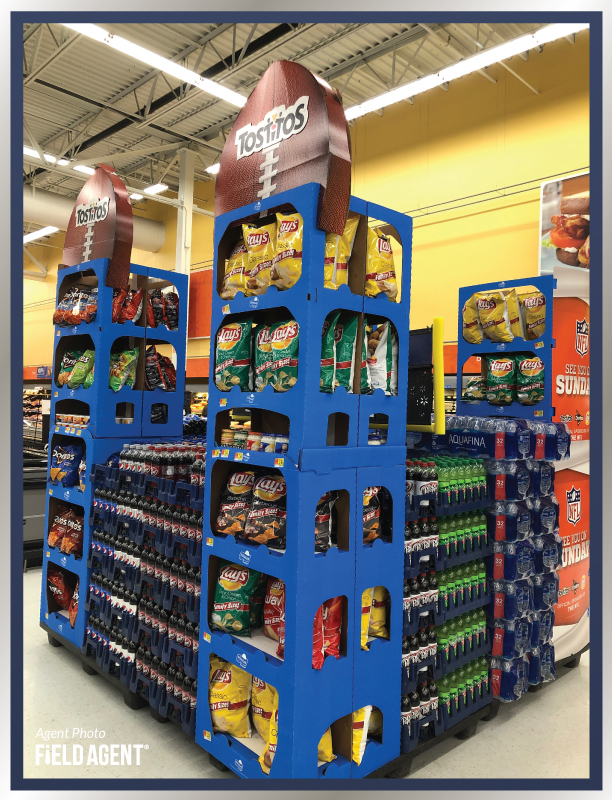 Super Bowl Display Agent Photo Lays Chips Dr Pepper Mountain Dew