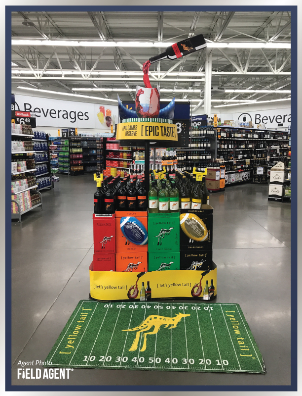 Super Bowl Display Agent Photo Yellow Tail Wine