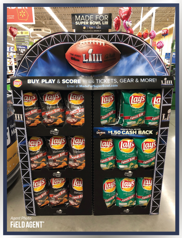 Super Bowl Display Agent Photo Lays Chips