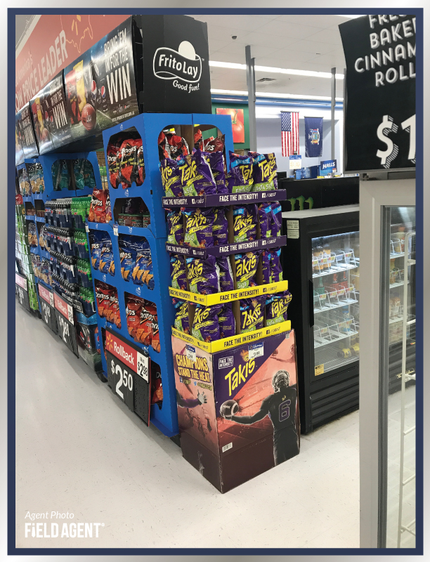 Super Bowl Display Agent Photo Takis Frtio Lay