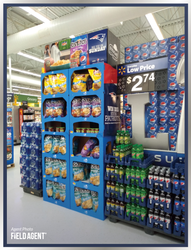 Super Bowl Display Agent PhotoTostitos Chips Lays Pepsi Mountain Dew