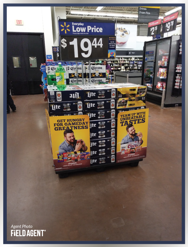 Super Bowl Display Agent Photo Miller Lite Corona
