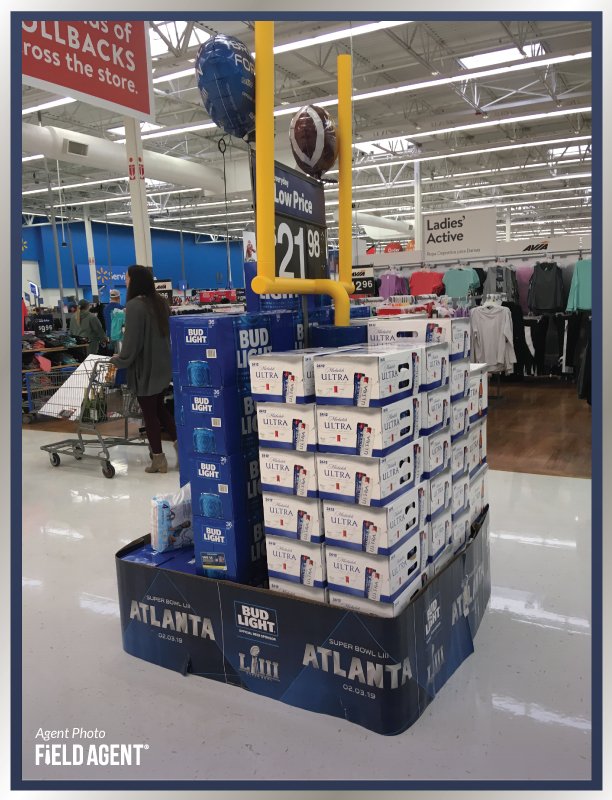 Super Bowl Display Agent Photo Bud Light Michelob Ultra