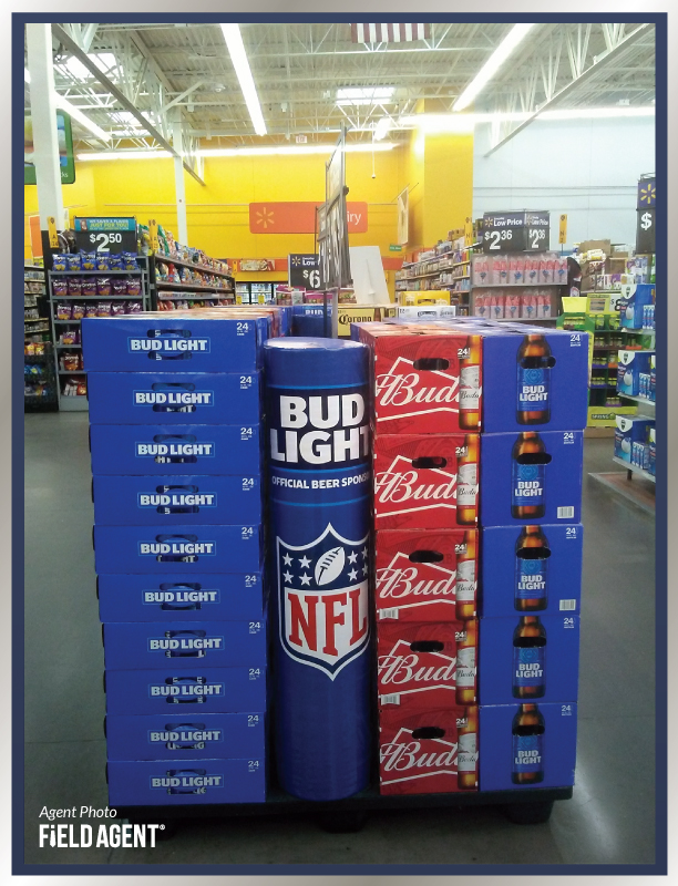 Super Bowl Display Agent Photo Bud Light Budweiser
