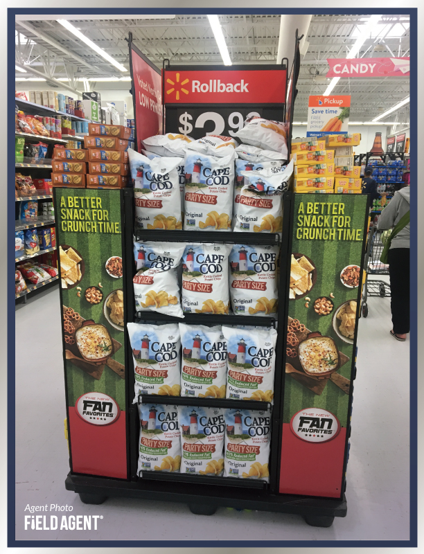 Super Bowl Display Agent Photo Cape Cod Chips