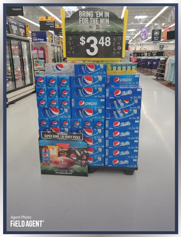 Super Bowl Display Agent Photo Pepsi