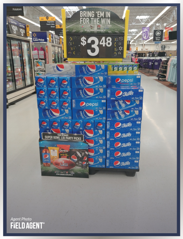 Super Bowl Display Agent Photo Pepsi