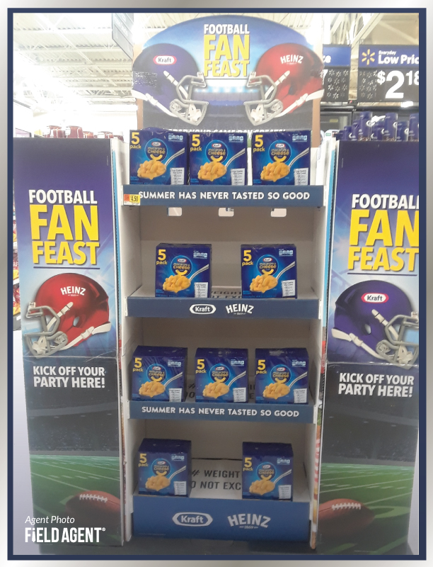 Super Bowl Displays Field Agent Kraft Heinz