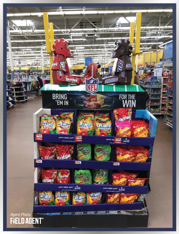 Super Bowl Display Agent Photo Skittles Starburst Live Savers