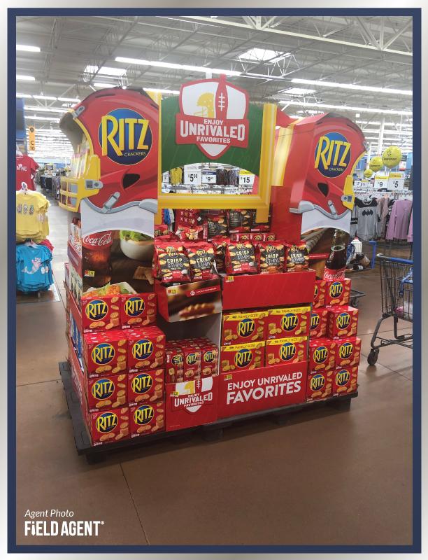 Super Bowl Display Agent Photo Ritz Crackers