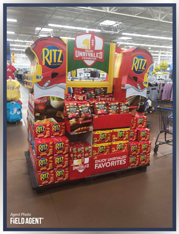 Super Bowl Display Agent Photo Ritz Crackers