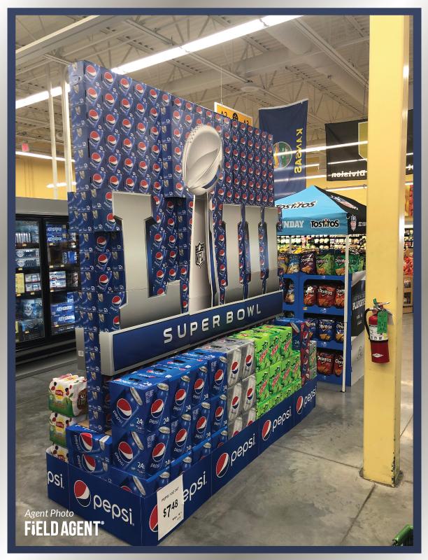 Super Bowl Display Agent Photo Pepsi Mountain Dew
